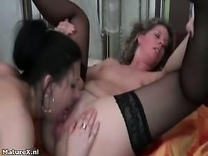 Horny mature lesbians go crazy sucking part2