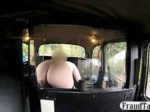 Big boobs amateur redhead slut sucks and fucks her horny taxi driver