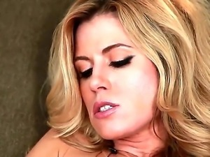 Young pretty blonde beauty Randy Moore with tight ass and natural boobies...