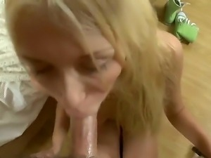 Young smoking hot slender blonde babe Sally with long legs and natural...