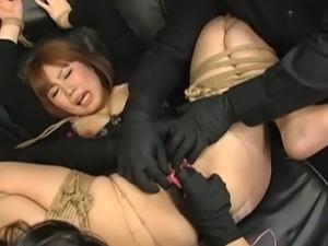 Japanese femdom threesome punishment