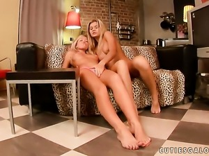 Blonde Ivanka gets used like a fuck toy by horny lesbian Cristal