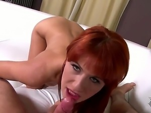 Nice fellatio from sexual redhead babe Lucy Bell would bring a lot of...