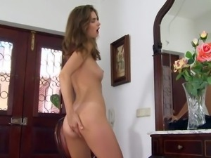 Charlotta is a pretty brunette with sexy body. Temptress in shoes...