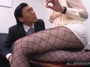 japanese teacher sits on principal's face