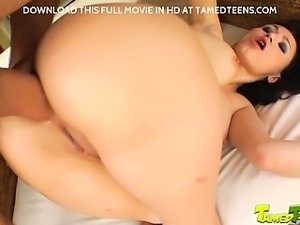 This busty newcomer gets into some hard action with our boys. She takes it in...