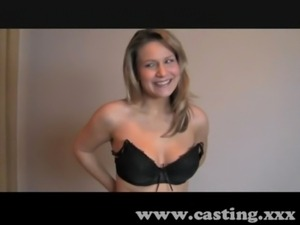 Casting Fit blonde gets fucked on the blob free