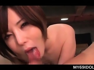 Blowjob expert Asian slut gets mouth fucked and jizzed in POV