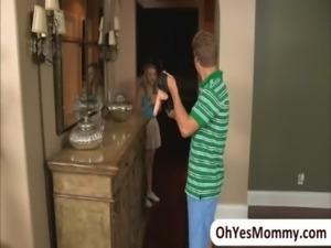 Sexy stepmom Samantha Ryan catches her stepdaughter Ava Hardy...