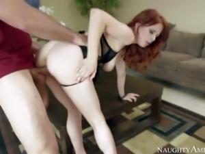 Pornsharing.com hot tube : Penny Pax is a beautiful redhead in tempting black...