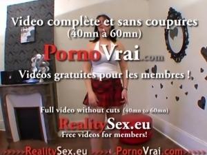 La grosse salope ejacule et se fait enculer ! French amat