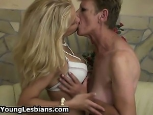 Horny lesbian mature lady loves to play