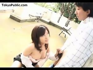Japanese Outdoor Public Cocksucker