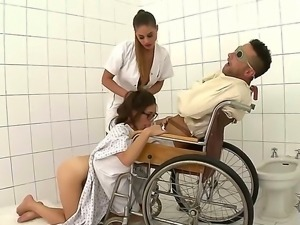 Wild threesome hospital banging with Cathy Heaven, Tiffany Doll and pretty...