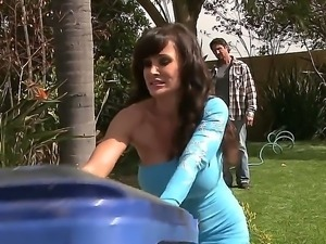 One of a kind black haired milf Lisa Ann with gigantic gazongas and round ass...