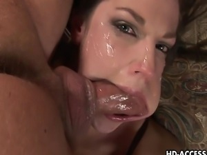 Lovely brunette babe here gives one of the wildest and kinkiest blowjobs that...