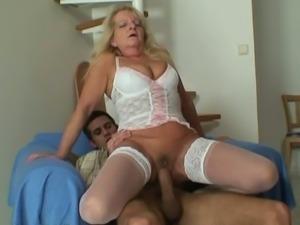 Granny seduced son in law for sex