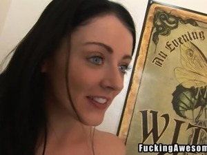 dumb bitch getting dirty