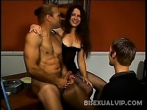 Lena Ramon got so excited when she saw her bisexual boss and his associate...