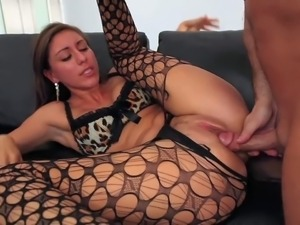 Rilynn Rae is s sex starved slut that looks great in her crotchless black...