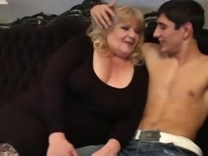 Sexy BBW Granny Seduces Young Man