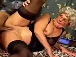 A sexy granny loves a hard cock and works her magic all over it.