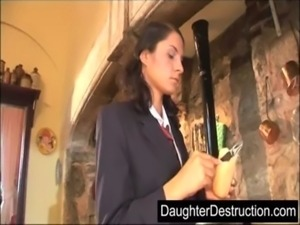 Brutal daughter destruction free