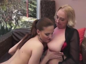 Young Teen & Granny Lesbians #2