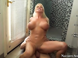 Johnny Sins plays with dripping wet hole of Nikita Von James before he bangs...