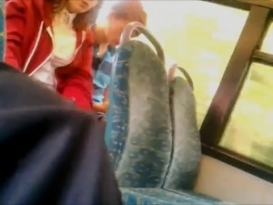 Girl Adjusts Her Black Tights on Train