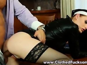 Euro nun fetish group suck and fuck