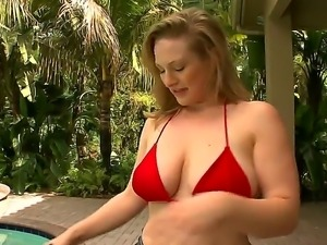 Cris Commando could not stop groping gorgeous Vicky Vixens soft natural tits