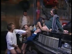 Vintage ebony anal gangbang