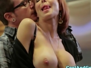 Veronica Avluv deepthroating with enthusiasm