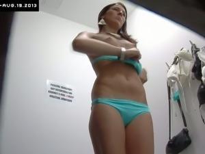 Czech babe changing her sexy underwear