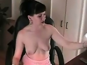 Amazing nasty brunette chick wanks
