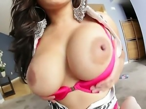 Gorgeous Asian woman with massive breasts Jessica Bangkok is relaxing with...