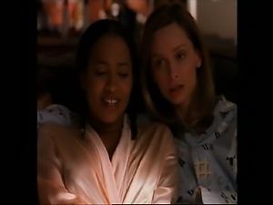 Calista Flockhart first seen lesbian kissing several
