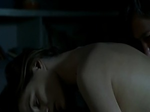 Emmanuelle Beart riding a guy in bed while topless, her