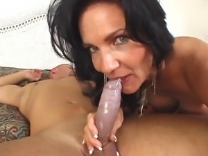 busty granny in anal action