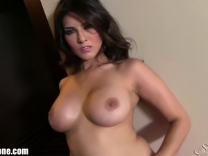 New Video from Sunny Leone! Check out the beautiful desi babe stripping in a...