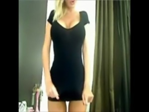 Gorgeous blonde with amazing boobs strips on webcam free