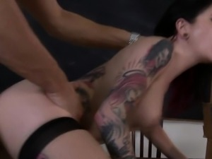 Goth pornstar rimmed and fucked