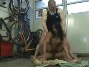 Two guys humiliating and pissing on naughty girl