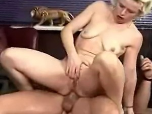 Kinky blonde German slut loves being a piss and cum dump for her man