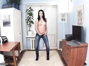 Mya Dark satisfies her sexual needs and desires alone in solo action
