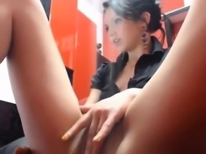 Vibrator On Her Pussy On Webcam F