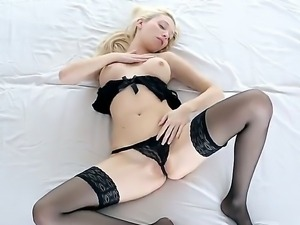 Nancey is our hot blonde and she loves to masturbate for the audience....