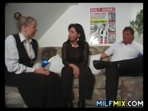 Compilation of a glasses wearing MILF having sexual adventures