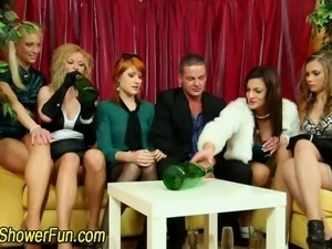 Cock sucking fetish sluts get pissed on in hd